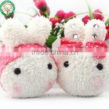 Cute rabbit bunny shaped keychain plush toy for sale