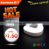 New Design Three Shape AAA Battery Led Motion Sensor Light Light-operated Night Light                                                                         Quality Choice