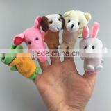 Great quality alibaba factory wholesale Animal plush finger puppet customized stuffed finger toys