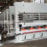 latest 2000 ton short cycle melamine laminating hot press machine hydraulic hot press machine
