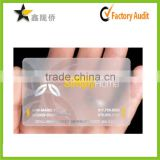 2015 Alibaba hot custom gold foil color changing clear business cards                                                                         Quality Choice