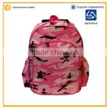 alibaba China wholesale customized fashion pink 14'' school backpack with wheels