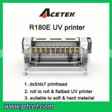 1.8m Acetek R180E UV leather wall paper roll to roll uv printer