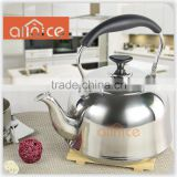 Normally best selling design good quality kettle 4L/5L farmhouse style gas water SS kettle with whistle spout