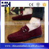 2016 Latest Design Suede Casual No Laces Men Red Velvet Loafers