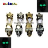 Metal Skull Charm Glow In Dark For Paracord Knife Lanyards Paracord buckle #FLQ053-L(Mix-s)