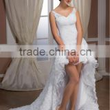 New collection Italy design Short Wedding Dress / Bridal Gown