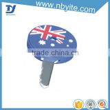 flag printed silicone car key cover silicon key case key holder
