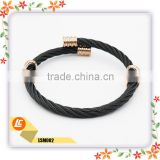 Black&Sliver Colour Fashion Bangle Jewelry Stainless Steel Fashion Bracelets Cute Couple Cheap Jewelry