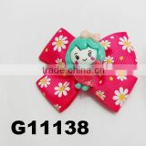 baby girl daisy flower ribbon hair clips baby hair accessories wholesale china