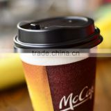 PE coated hot beverage paper cup for coffee shop chains