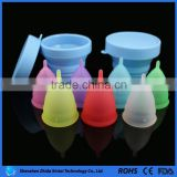 modern intimate 100% medical silicone 2016 foldable cup