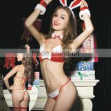 Wholesale Women's Sexy Lingerie 5Pcs Mrs Santa Costume Christmas Babydoll Nighties