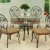 Neo-classic dinner table set furniture metal leg dining pool table with great price