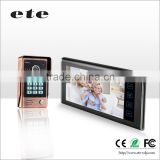 ID card and Password unlock door lock door bell system 7 inch LCD Video door phone intercom
