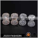 Widding jewellery sweet diamond bow stud earrings for girl