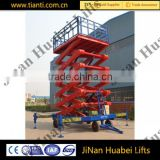 Electric Motor Lift Drive and Scissor Lift Mechanism Hydraulic Actuation elevating conveyors