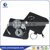 zipper style printed mesh cable pouch