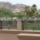 2016 decorative iron fence made with beautiful scroll works used widely in garden decoration and villas protection