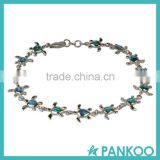 Wholesale Jewelry fancy 925 solid silver turtle Opal Bracelet