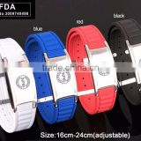 Noproblem stainless steel tourmaline man colour silicone fashion scalar power health bracelet