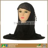 Womens Black Studded Jersey Cotton Hijab Scarf Wholesale