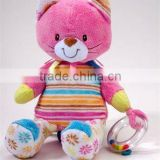 "11"" soft and cute ACTIVITY KITTY cat Plush Baby Toy"