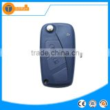 2 button flip remote key shell with logo uncut balde with blue color for fiat palio stilo double