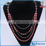 2014 new design red beads fashion alloy necklaces jewelries wholesale