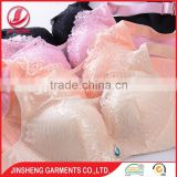 China factory beautiful deep V-shape sexy big breast bra underwear with thin sponge
