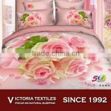 100% 40s cotton 5D pink flower bed comforter cover set 2015 NEW