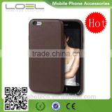 2016 Hot sale high quality charming brown 4.7 inch phone leather/PU cover case for iphone 6
