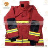 Orange Water proof fire fighter clothing with 3m reflective stripe Aramid material EN 469 standard-Ayonsafety