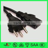Switzerland SEV 3 core wire power cord power cable plug types