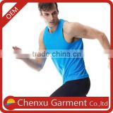 high quality slim fit low neck vests men compression shirts china blank dry fit blue tank top cheap custom wrestling singlets