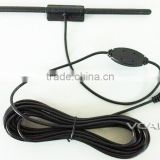 VCAN0963 Car DVB-T/T2 Active Antenna With 3M Sticker F type SMA IEC is available