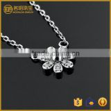 China wholesale fashion jewelry diamond flower pendant 925 silver for fashionable necklace fine jewellery