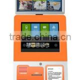 "19"" floor stand touch kiosk vendor machine for passenger ticket, Automatic Ticket Issuing Machine"