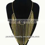 2013 multilayer tassels necklace with rhinestone-N330034