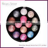 Wholesale 14 colors Baked Powder oem makeup Eyeshadow palette packaging