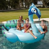 190cm Giant Peacock Pool float Blue Red for 2 Person Inflatable Ride on PVC Water Play Equipment In Factory stock