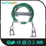 8MM D Shape Hook Steel Wire Elastic Tow Rope With Hook