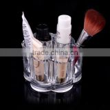cy270 home Women's Fashion Beauty Designer Cosmetic Box Plum Flower Clear Acrylic Shaped Cosmetic Lipstick Brush Holder Makeup