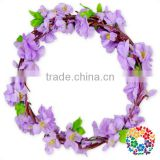 Purple Flower Headband Vintage Wedding Crown Artificial Wreath