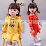 B41003A 2017 autumn kids clothing girls hoodied dress