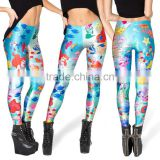Sky Digital printing cartoon mermaid leggings pants pants feet pencil pants color printing