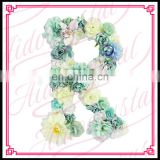 Aidocrystal handmade artificial flower letter wall decorative wall hanging art and craft