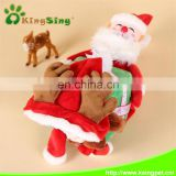 Pet Dog Cat Christmas Xmas Costume Santa with gift Pet Apparel Three Dimensional Winter Clothes