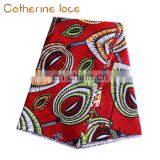 Catherine New Arrival African High Quality 100 Cotton Wax With Lace Fabric