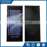 2016 custom design clothes wash care label